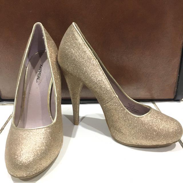 Gold Platform Heels 11cm