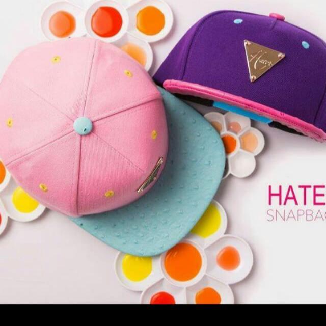 Hater 帽子 粉藍色