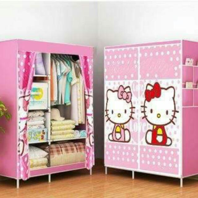 hello kitty wardrobe home furniture on carousell. Black Bedroom Furniture Sets. Home Design Ideas