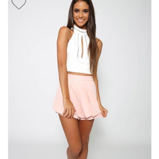 Highwaisted Light Pink Shorts