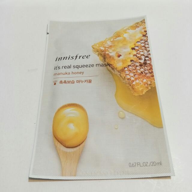 Innisfree - It's Real鮮潤面膜系列-麥盧卡蜂蜜