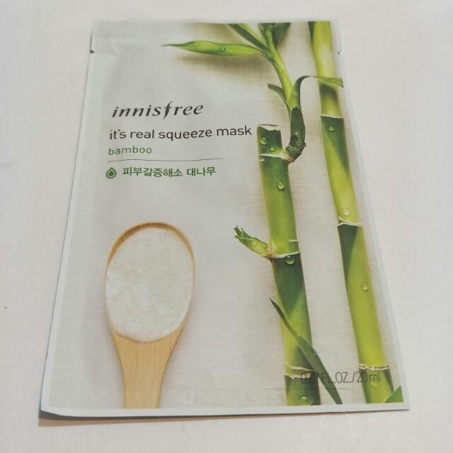 Innisfree-it's Real鮮潤面膜系列-竹子