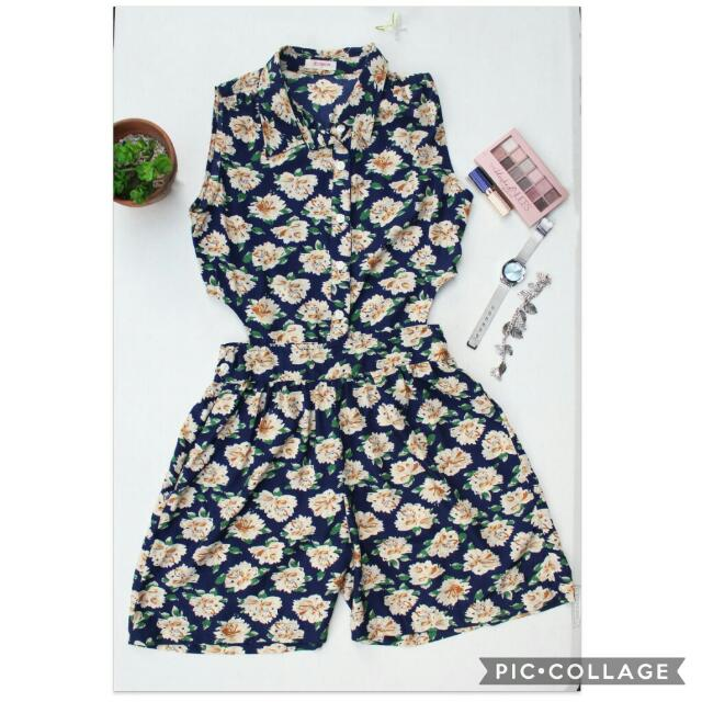 Jelly Bean Floral Romper
