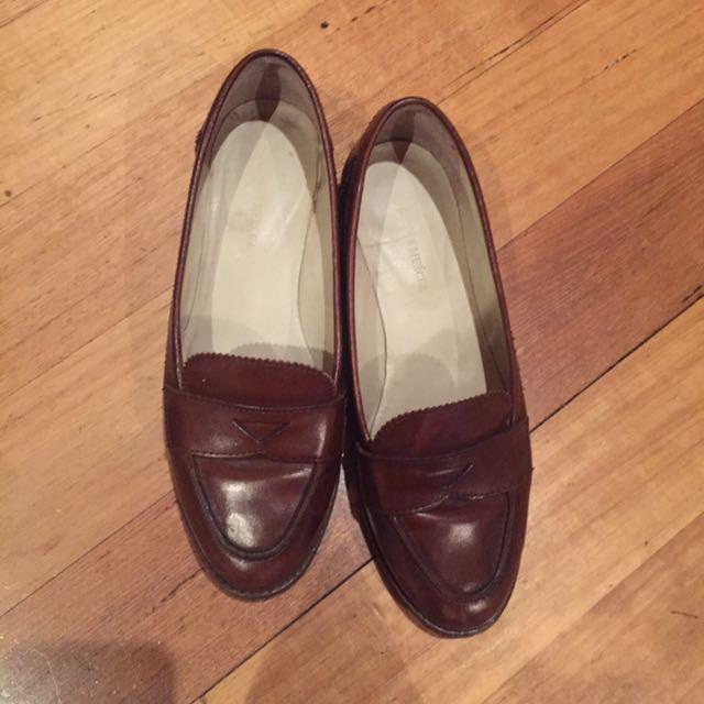 Jo Mercer Leather Slip Ons