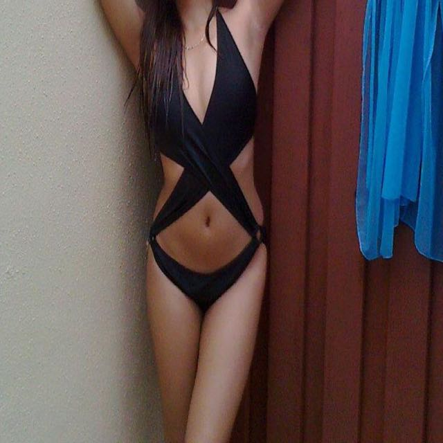 july brand sexy black bikini , used twice, original price 800
