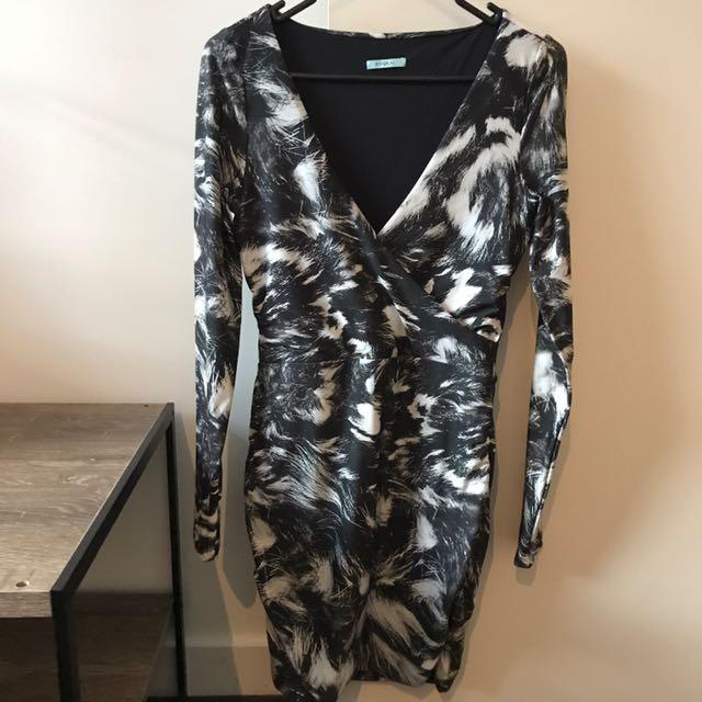 Kookai Long Sleeve Dress (Multicolour)