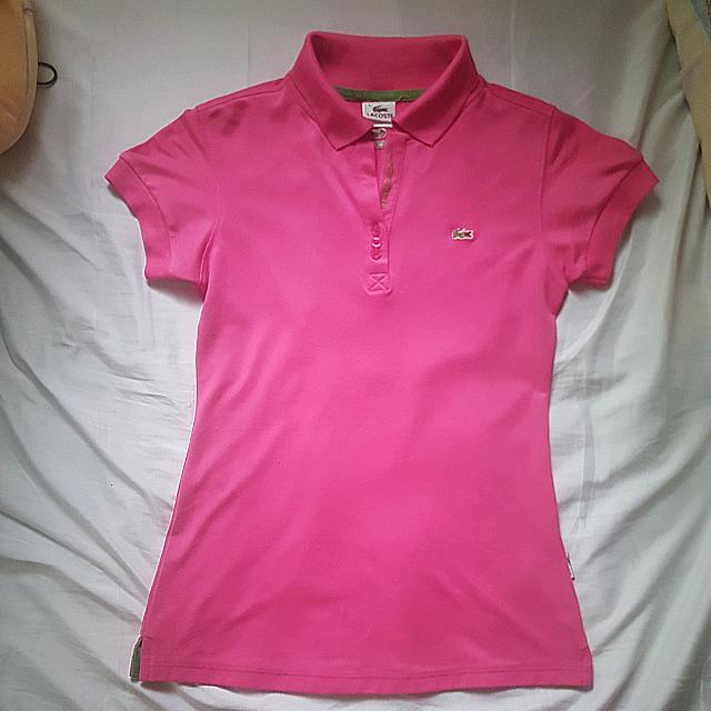 LACOSTE Fuschia Polo Shirt