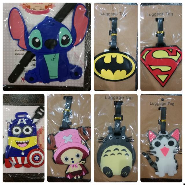Luggage Tag Superhero Lilo Superman Batman Totoro Cat chopper minion  #Bajet20