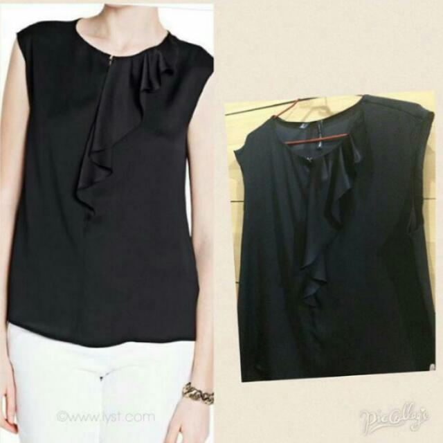 Mango Blouse with Ruffle Details