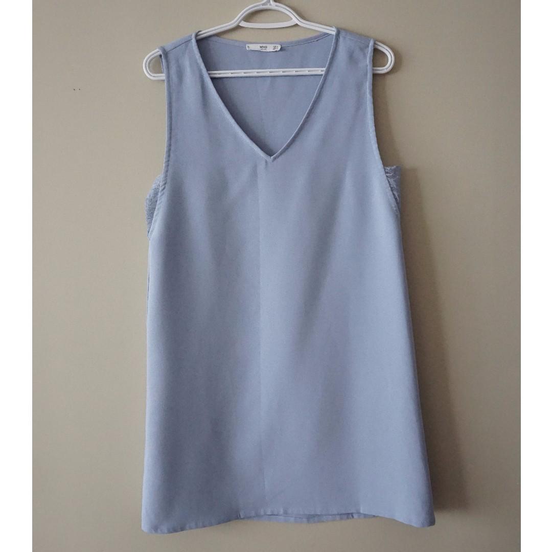 MANGO Periwinkle Blue Shift Dress