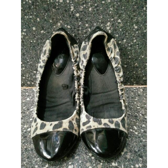Mango Touch printed flat shoes