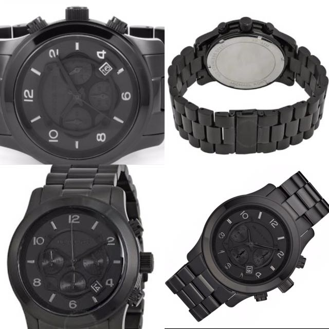 Michael Kors Blacked Out Runway Chronograph. Men's Watch. 100% Authentic & New