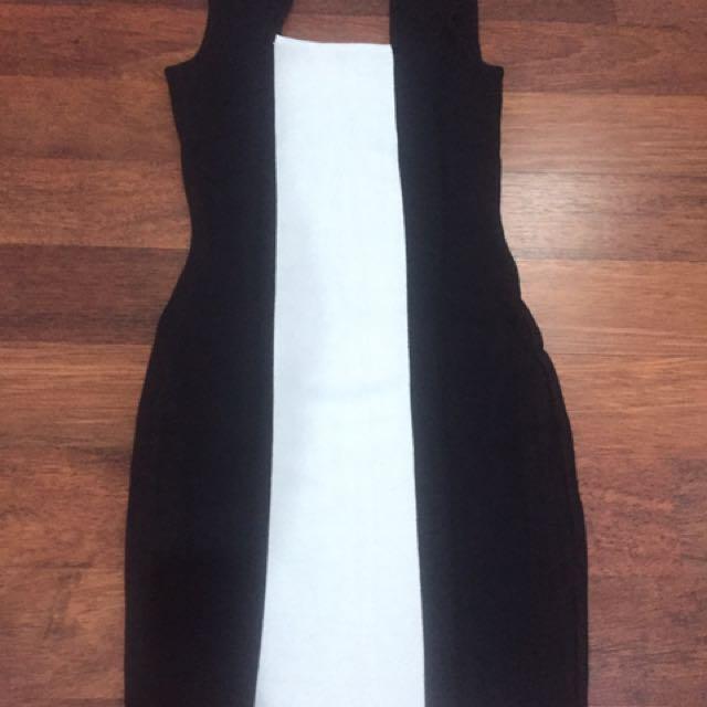 Mini Dress Black & White The Executive