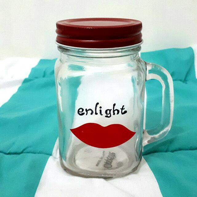 Mug Jar (Gelas Toples) Red