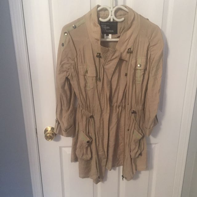 NEVER WORN: Cotton 3/4 Sleeve Jacket