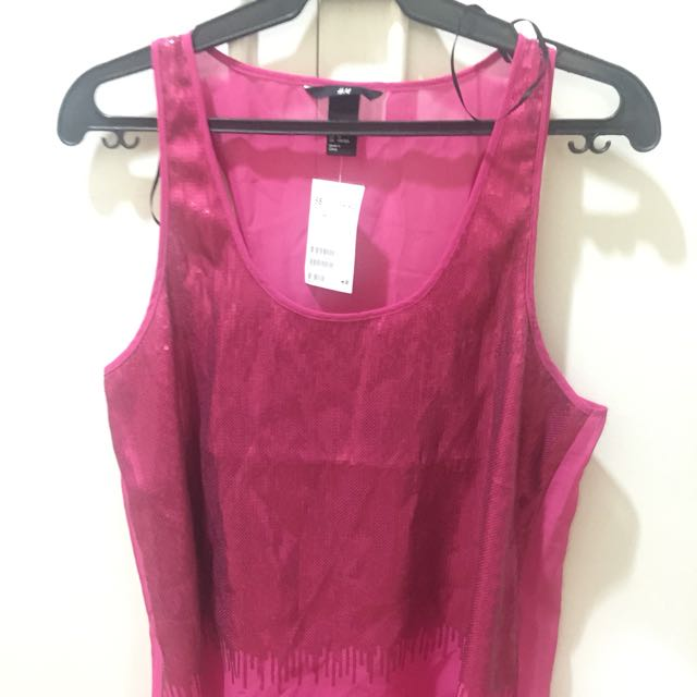 New H&M Fuschia Top Size US10