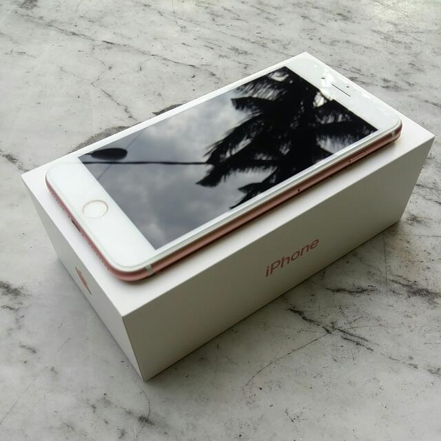 Original Iphone 7 Plus Rosegold 128gb Fullset