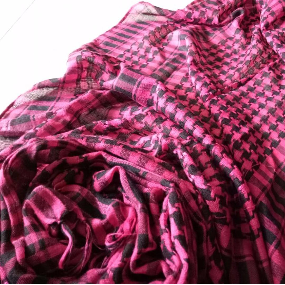 Pashmina / Shawl Houndstooth Pink