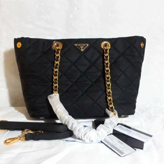 Prada Nylon Quilted Tote Bag, Luxury, Bags   Wallets on Carousell d68c9cb2f3
