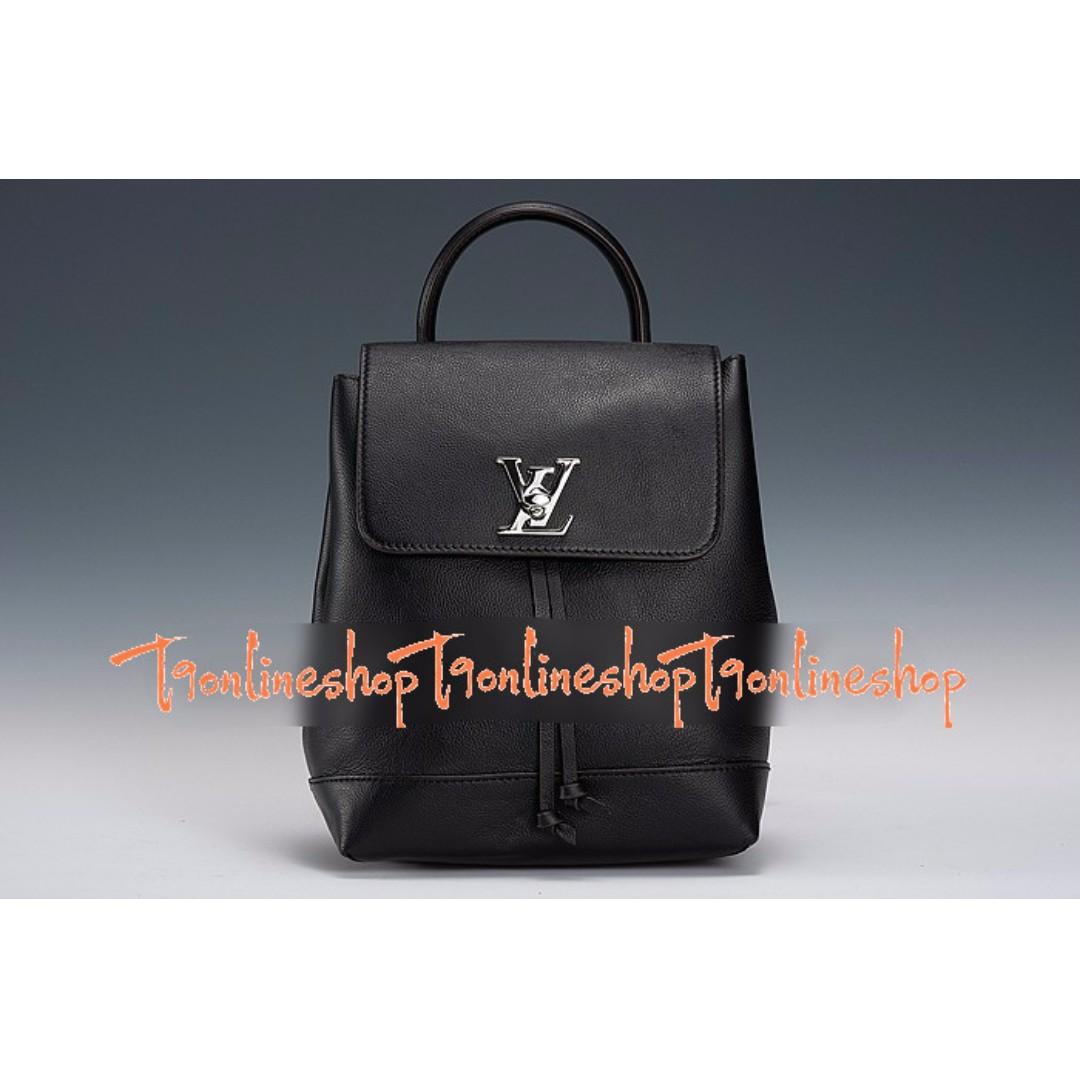 Premium Grade 1 1 - Louis Vuitton Lockme Backpack Black f49950097c9f6