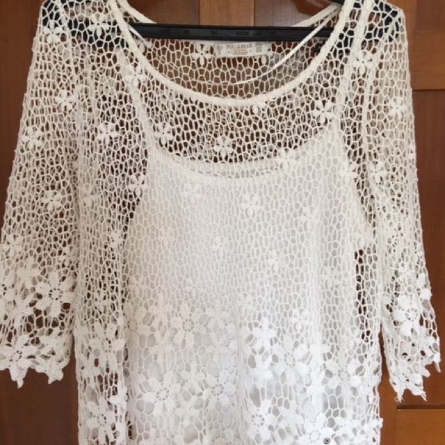 Pull & Bear Crochet Top