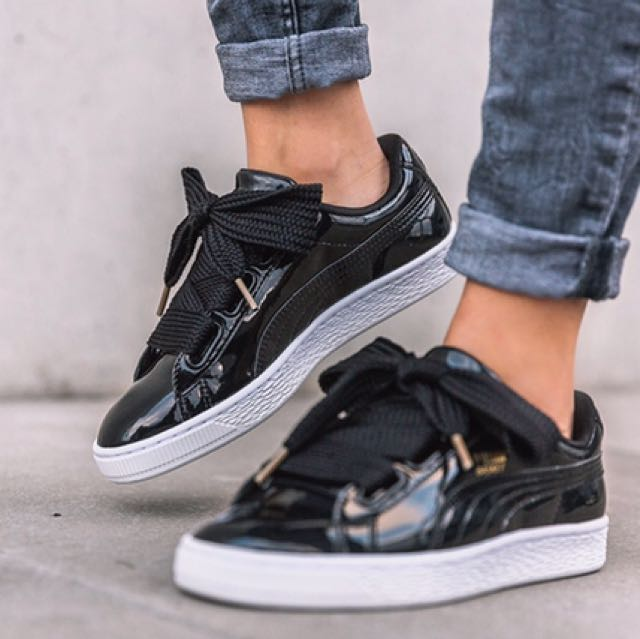 PUMA Basket Heart 緞帶鞋
