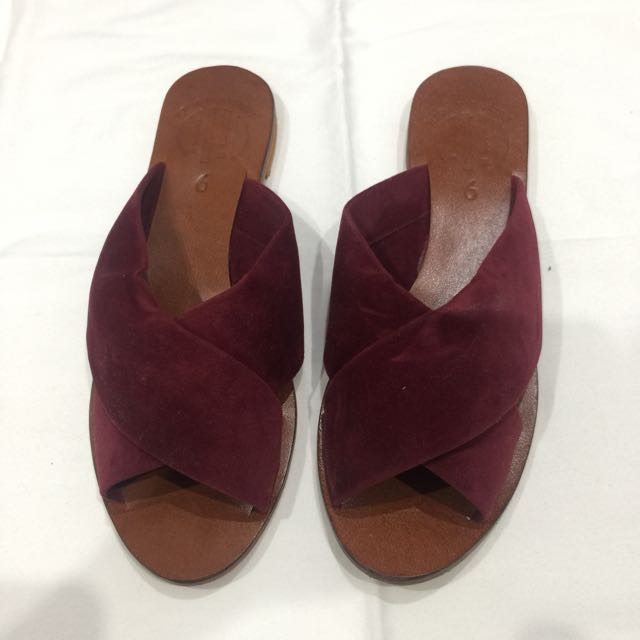 RF Wine Flats (size 9) - Barely Used, Only Once!