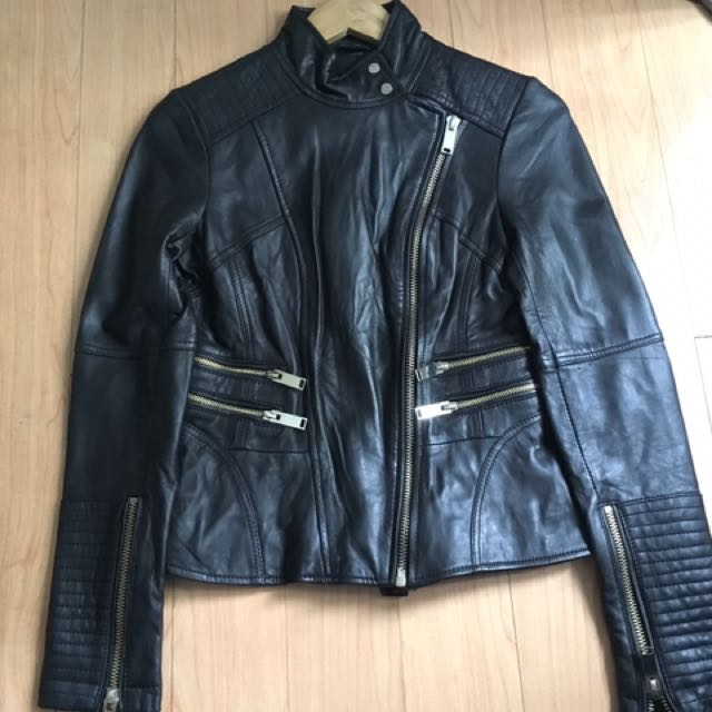 River Island Genuine Leather Jacket