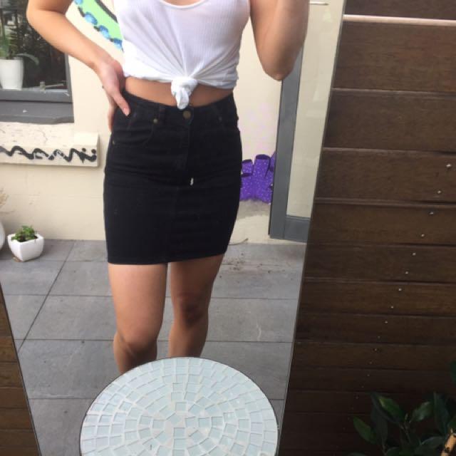 Rolla's Highwaisted Denim Skirt