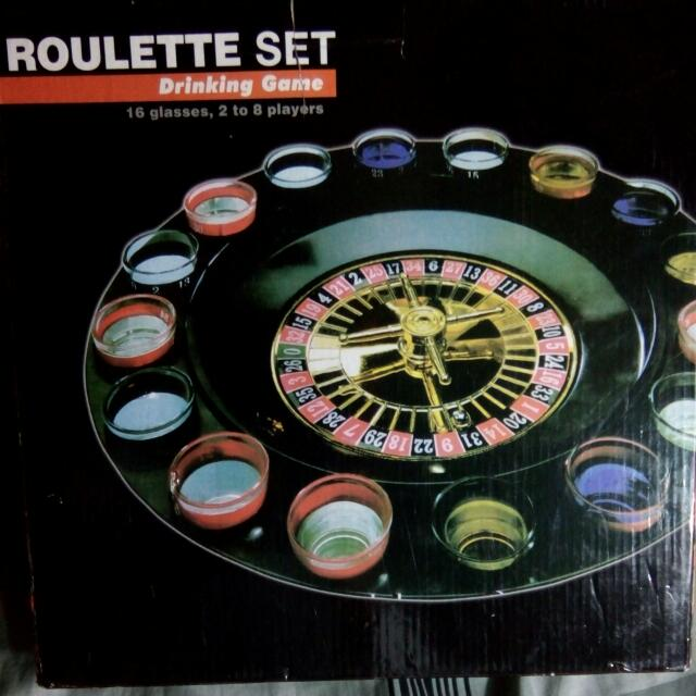 Roulette Set Drinking Game Shot Glass