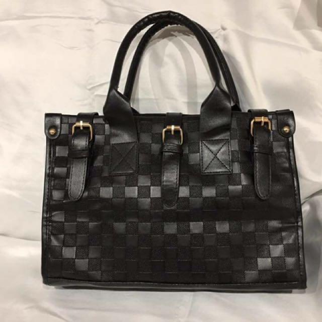 Sale Off ! BrandNew fashion black leather handbag