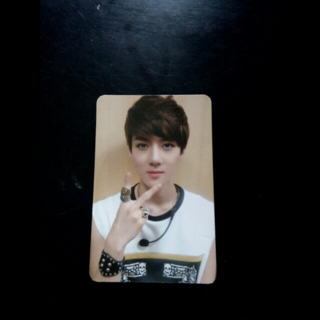 EXO Sehun MAMA Official Photocard