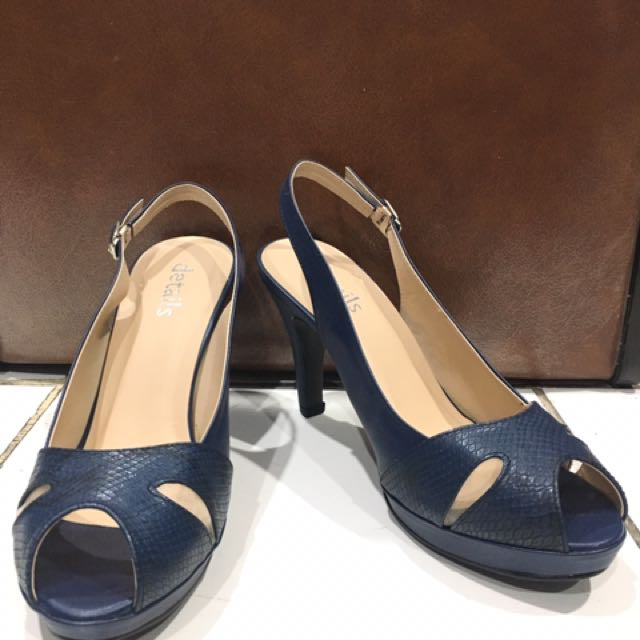 Sepatu Heels Biru 9cm