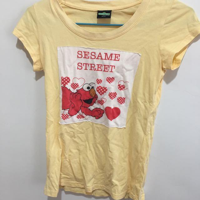 sesame street 芝麻街 短T