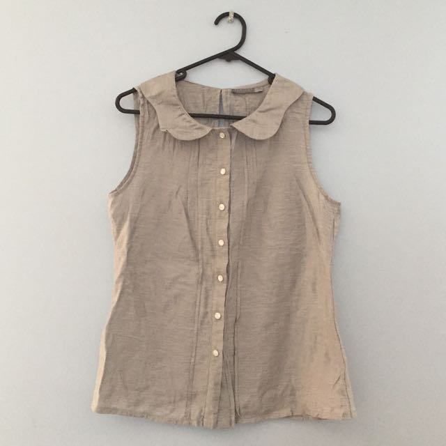 Silver Peter Pan Style Top Size 12