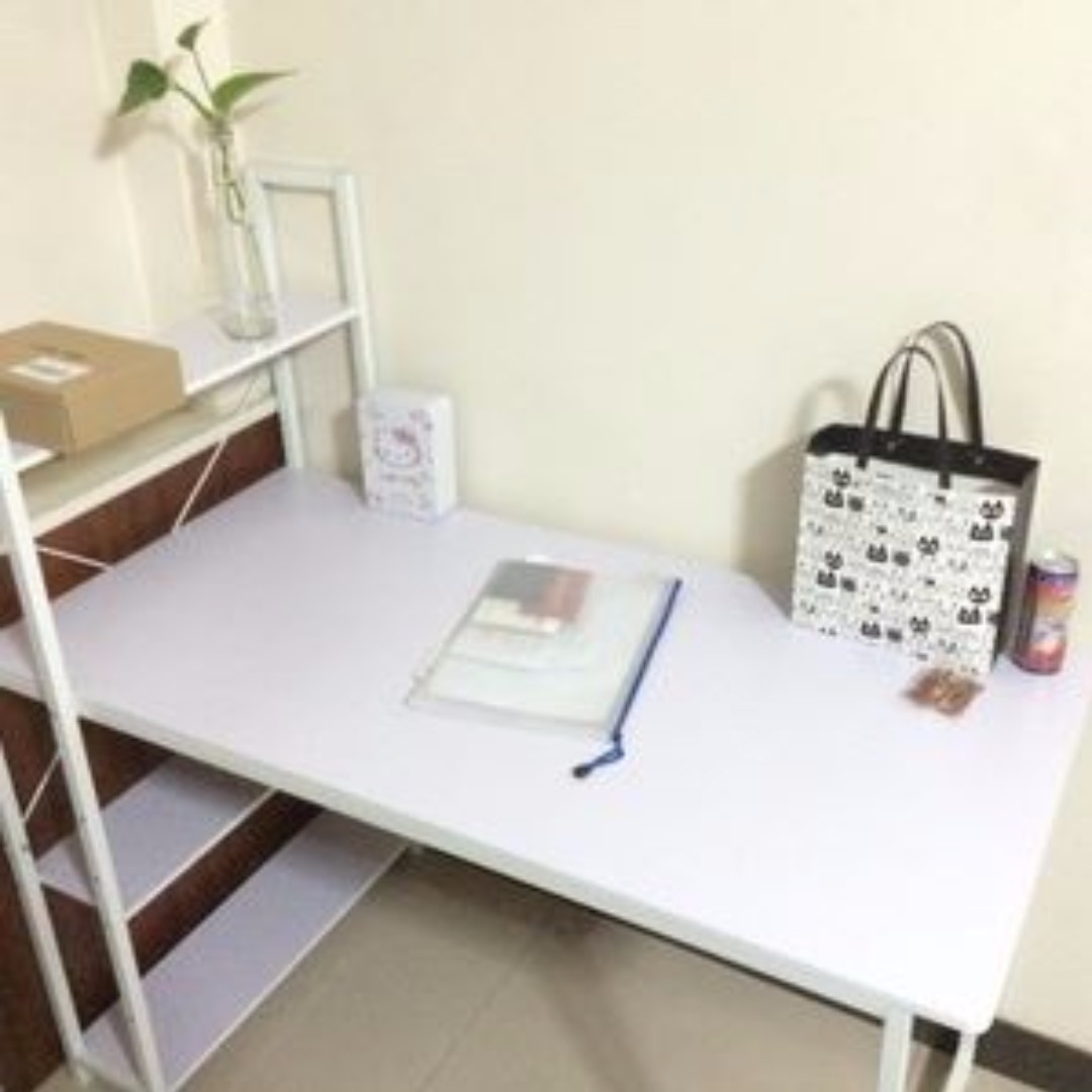 home office simple neat. Simple And Neat Desktop Table + Bookshelf (White), Home \u0026 Furniture On Carousell Office