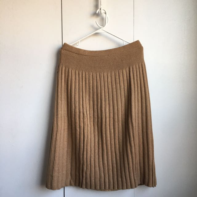 Size L-Xl Vintage Mixed Wool Angora Beige Sweater Skirt Vintage!!!