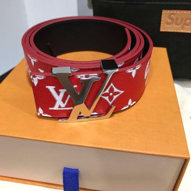2323207692cc Supreme Louis Vuitton Red Belt