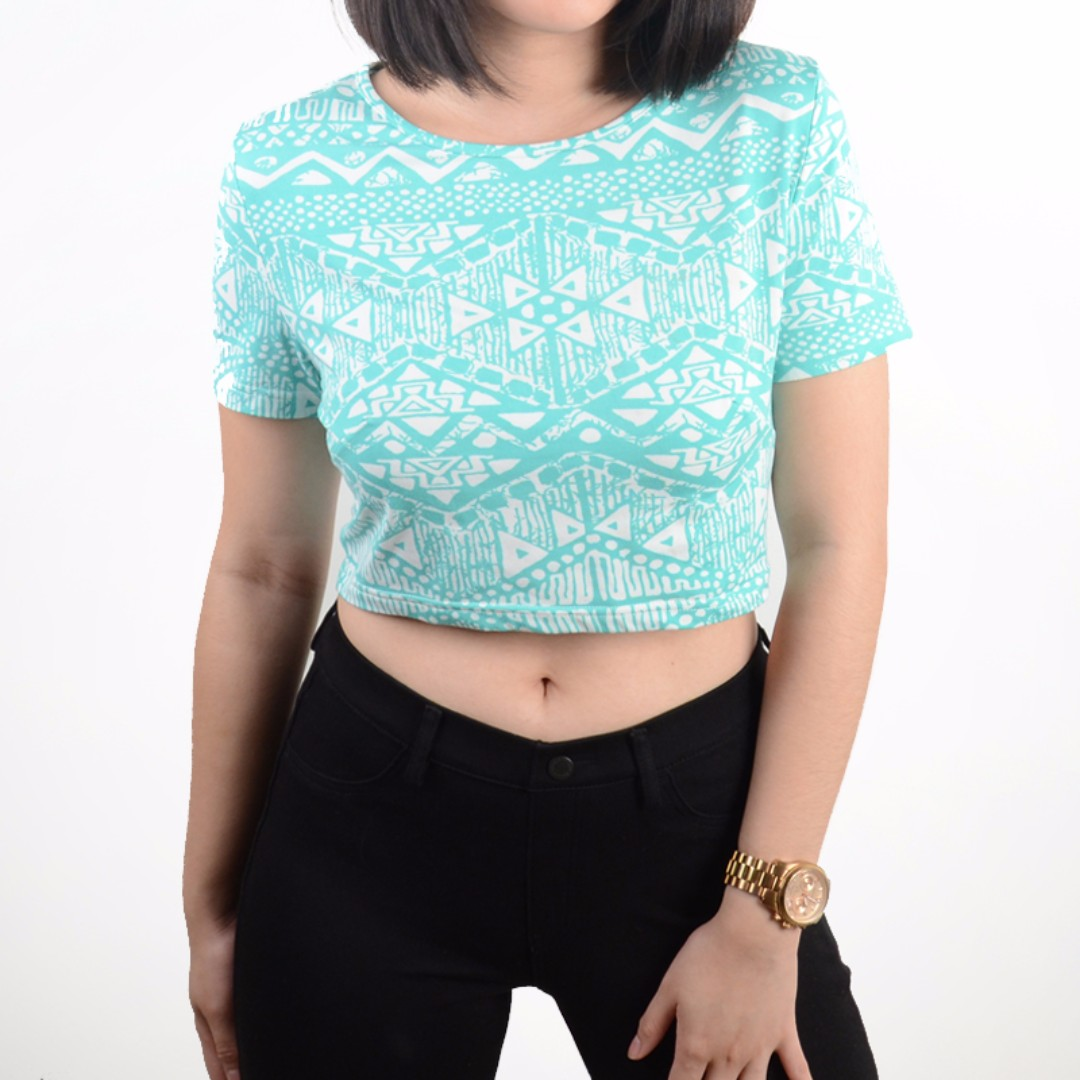 Teal Crop Top
