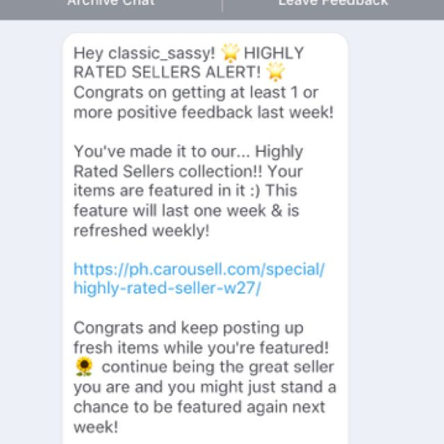 Thank You Carousell PH! 6th Time! ❤️