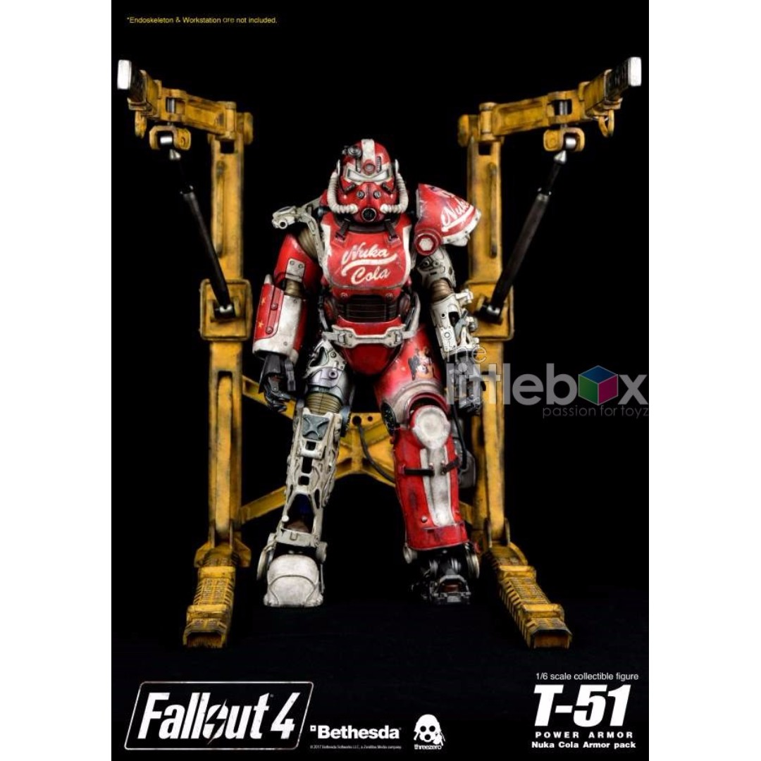 Stock Threezero 3a Threea Fallout 4 T 51 Power Armor Nuka Cola
