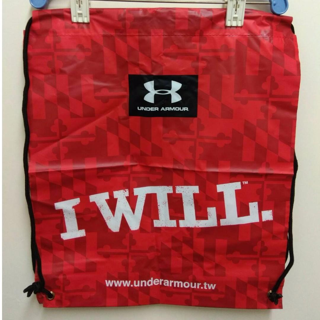 UA Under Armour 束口袋 運動 後背包 衣物收納袋 購物袋 UA包包 現貨