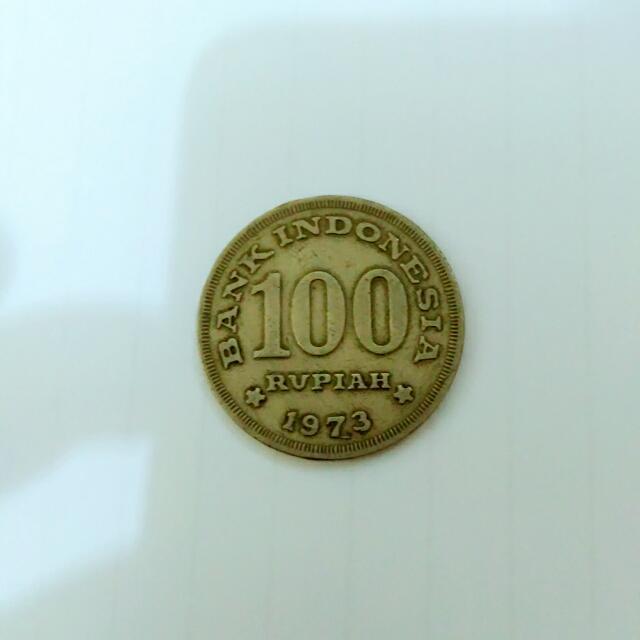 Uang Kuno 100 Rupiah Tahun 1973