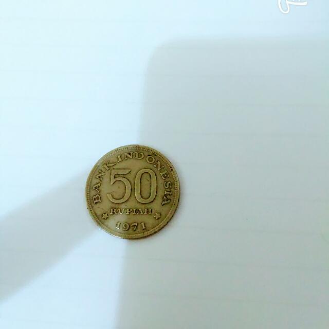 Uang Kuno 50 Rupiah Tahun 1971