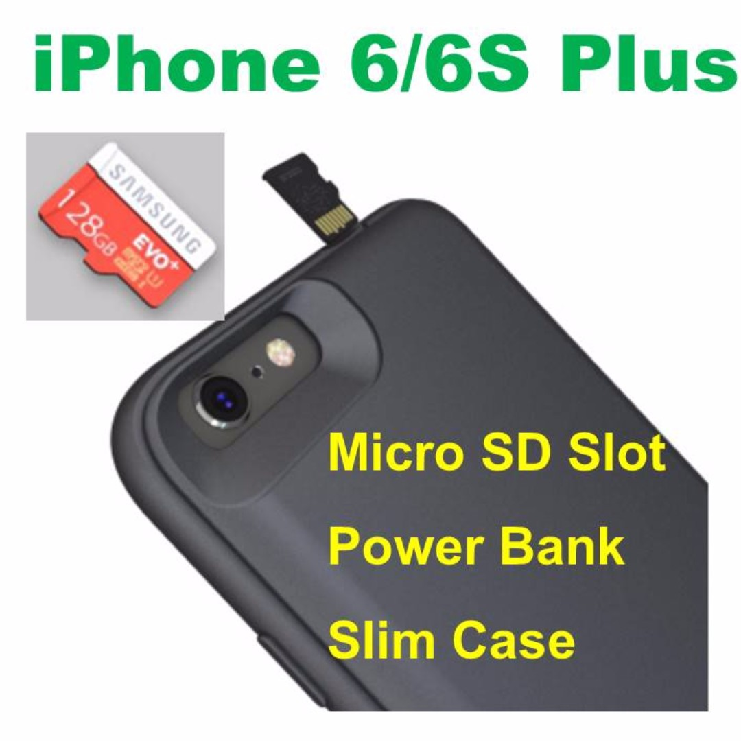 new arrival 535a6 b4c44 (U.P.$129) iPhone 6/6S Plus Power Bank Case with Micro SD Slot