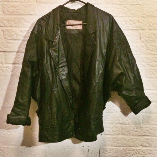 Vintage Part Leather Jacket