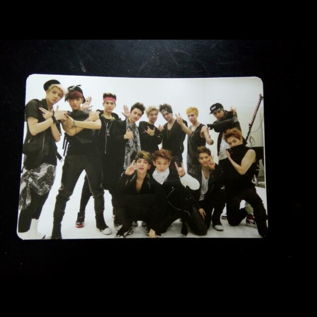 EXO Growl 으르렁 OT12 Official Photocard