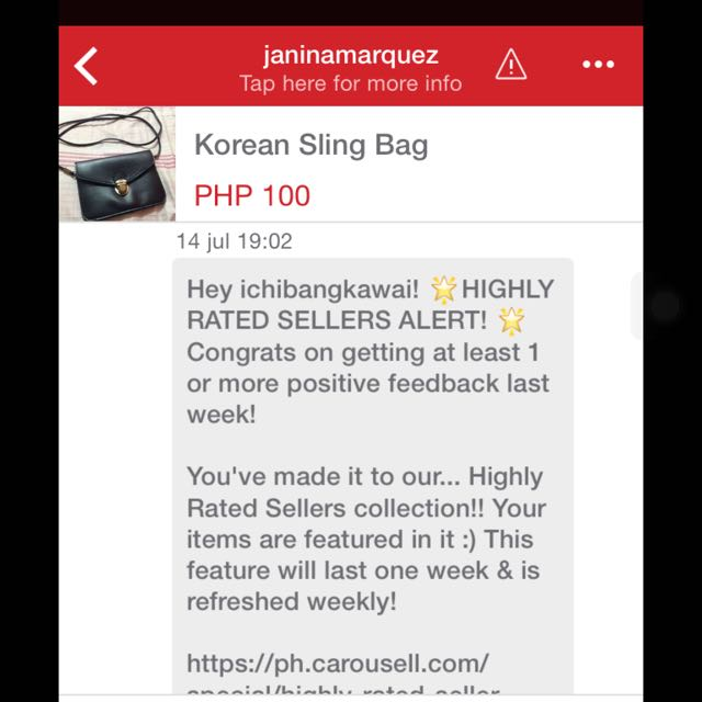 Highly Rated Seller👍👊 Yehey