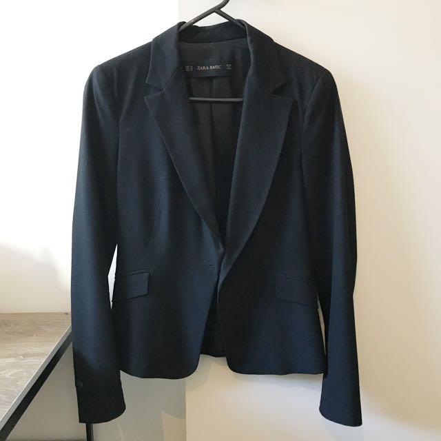 Zara Basic Blazer (Black)