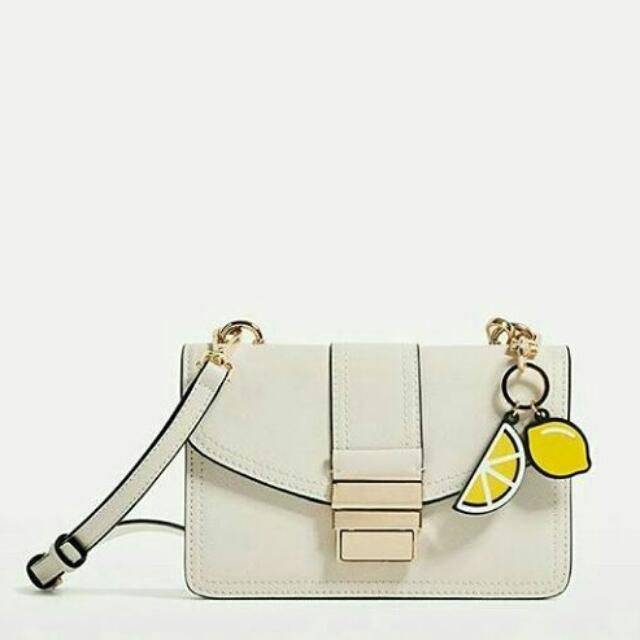 ZARA Mini Cross Body Bag With KeyChain